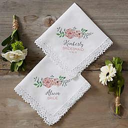 Blooming Bridal Party Wedding Handkerchief