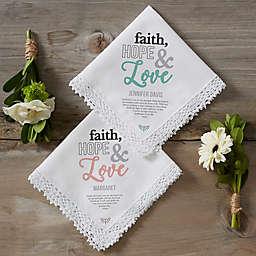 Faith, Hope & Love Personalized Handkerchief