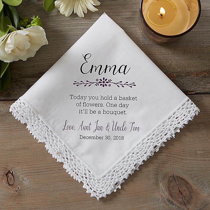Flower Girl Wedding Gifts: Flower Girl Wedding Handkerchief