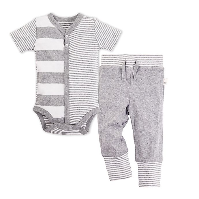 1b08f105d496 Burt s Bees Baby® 2-Piece Snap-Front Stripe Bodysuit and Pant Set in ...