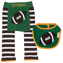 Izzy & Owie 3-Piece Football Legging and Bib Set