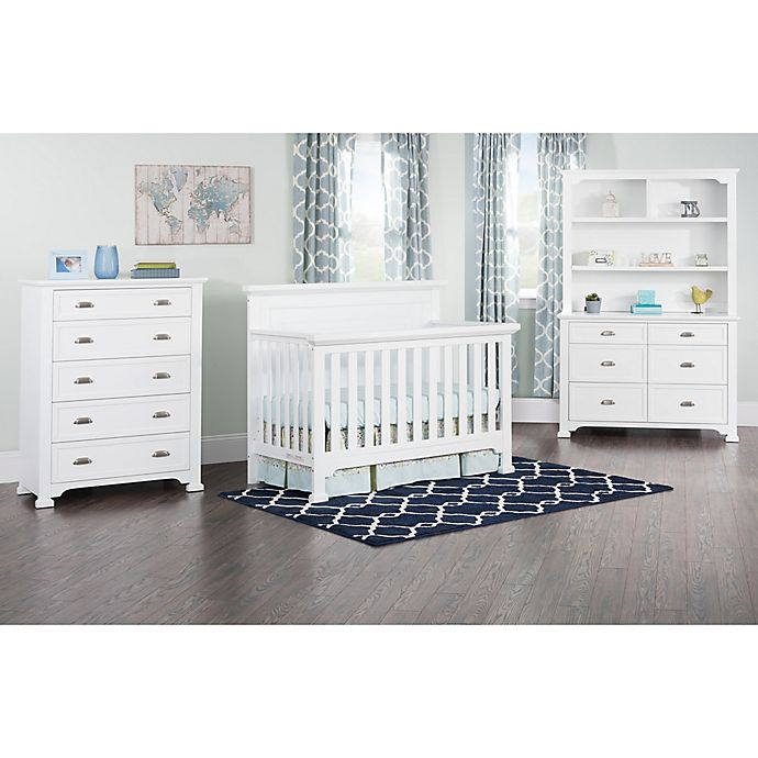 Alternate image 1 for Child Craft™ Roland 4-in-1 Convertible Crib in Matte White