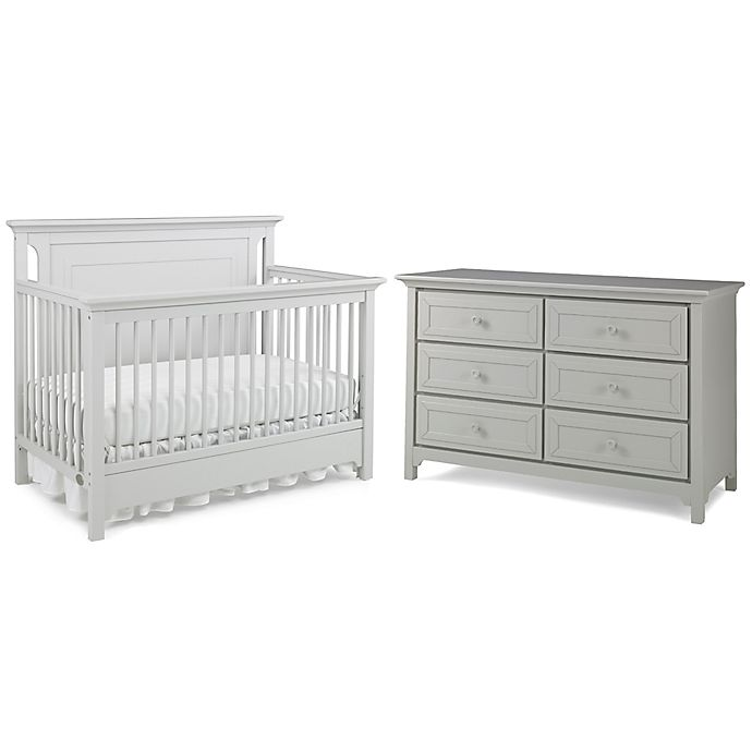 Ti Amo Palazzo 2 Piece Nursery Furniture Bundle Set In Misty Grey