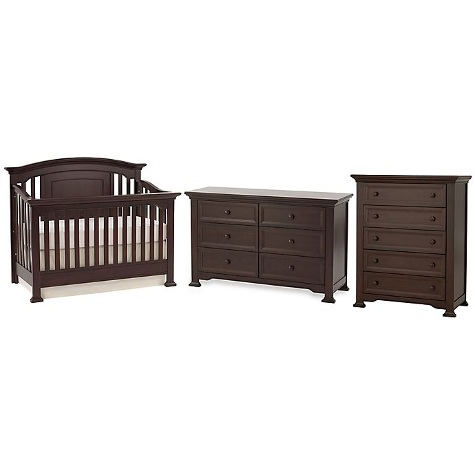 Kingsley Brunswick 3 Piece Nursery Furniture Bundle Set In Espresso View A Larger Version Of This Product Image