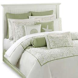 Harbor House™ Brisbane Comforter Set in White/Sage