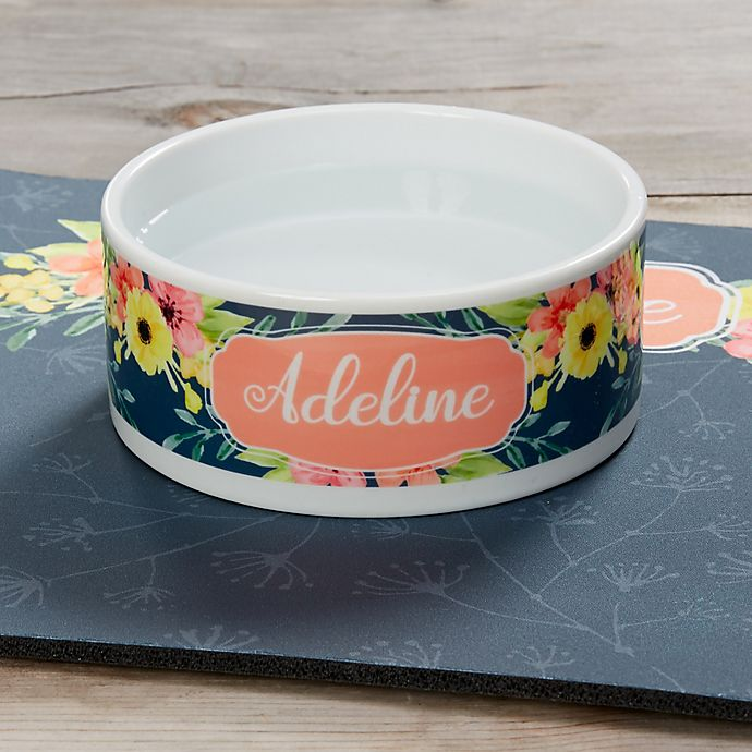 Alternate image 1 for Pet Floral Small Dog Bowl