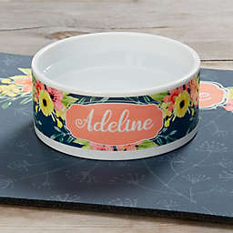 Pet Floral Small Dog Bowl