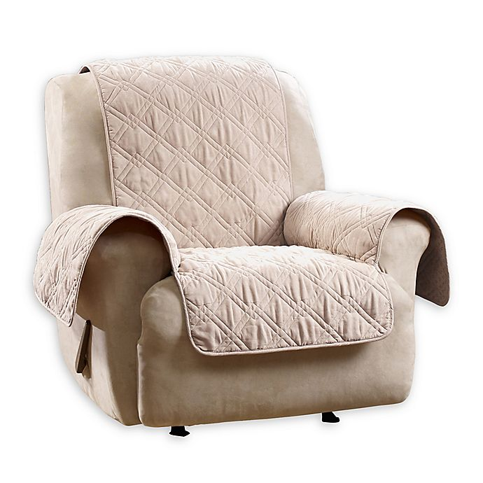 Alternate image 1 for Sure Fit Quilted Pet Recliner Cover in Taupe