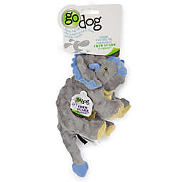 goDog® Dino Bruto Small Plush Squeaker Dog Toy in Purple
