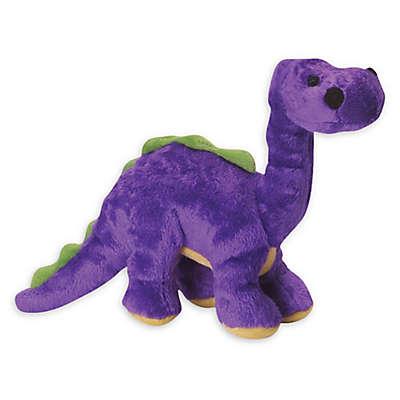 goDog® Dino Frills Small Plush Squeaker Dog Toy in Grey