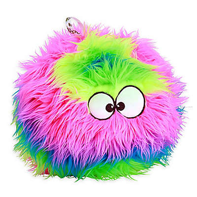 goDog® Furballz Plush Squeaker Dog Toy in Rainbow