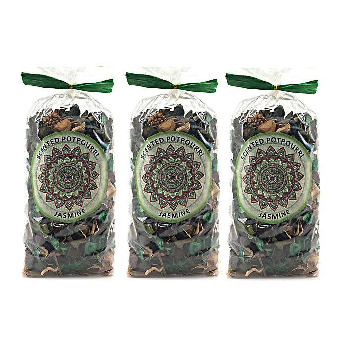 Alternate image 1 for Karma Scents Jasmine Scented Potpourri (Set of 3)