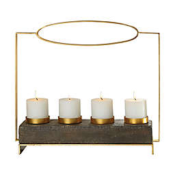 Uttermost Amrit Candle Holder with Candles in Gold