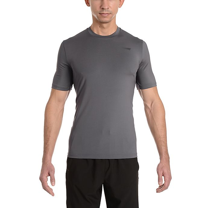 Alternate image 1 for Copper Fit® Small Men's Base Layer Compression Short Sleeve T-Shirt in Iron