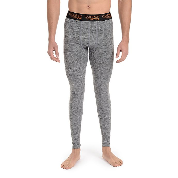 Alternate image 1 for Copper Fit® X-Large Men's Base Layer Compression Tight in Charcoal