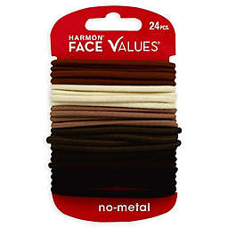 Harmon® Face Values™ 24-Count Elastic Ponytail Holders in Natural