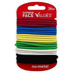 Harmon® Face Values™ 24-Count Elastic Ponytail Holders in Brights