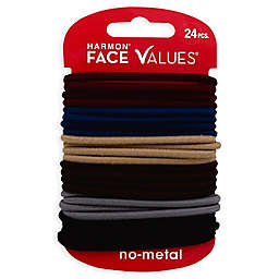 Harmon® Face Values™ 24-Count Elastic Ponytail Holders in Mauve