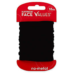 Harmon® Face Values™ 18-Count Nylon Ponytail Holders in Black