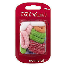 Harmon® Face Values™ 24-Count Small Elastic Terry Scrunchies