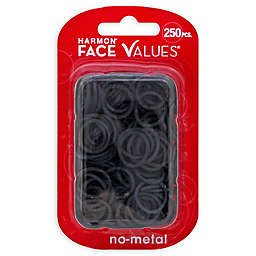 Harmon® Face Values™ 250-Count Elastic Band Ponytail Holders in Black