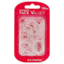 Harmon® Face Values™ 150-Count Elastic Band Ponytail Holders in Clear