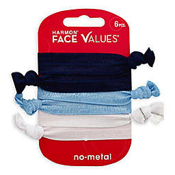 Harmon® Face Values™ 6-Pack Hair Elastic Knotie in Denim