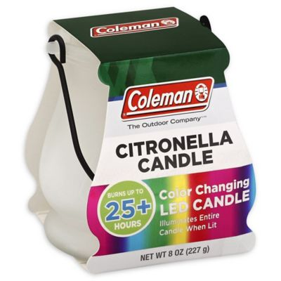 Coleman® 8 oz. Color Changing LED Outdoor Citronella Scented Candle