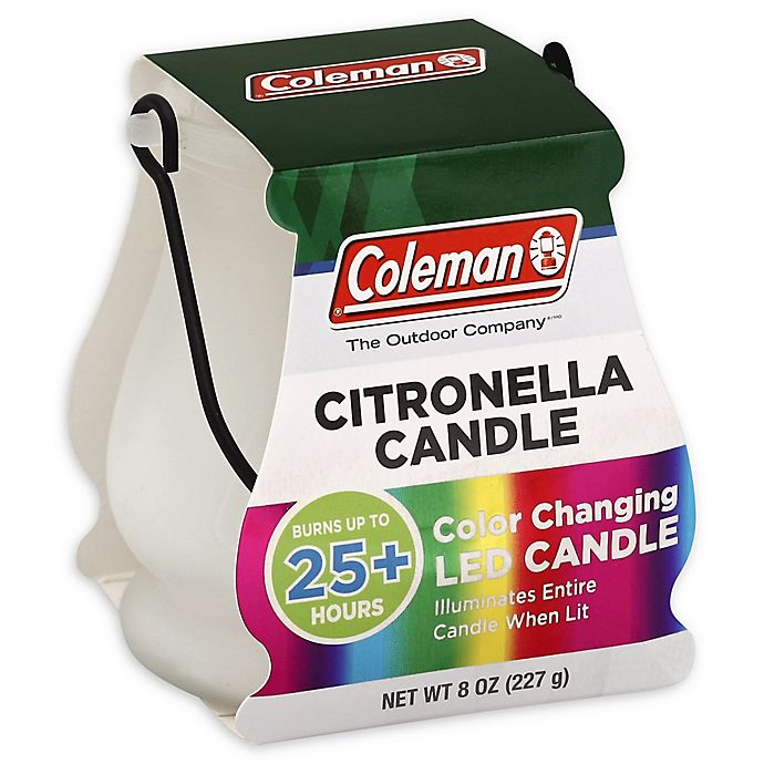 Alternate image 1 for Coleman® 8 oz. Color Changing LED Outdoor Citronella Scented Candle