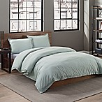 Garment Washed Solid Full/Queen Duvet Cover Set in Seaglass