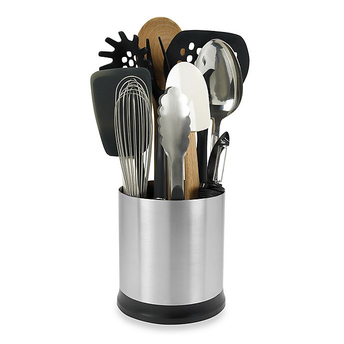 Alternate image 1 for OXO Good Grips® Stainless Steel Rotating Utensil Holder