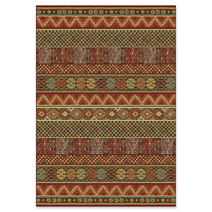 Dynamic Rugs Heritage Woven Treasure Rug In Red Multi