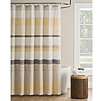 KAS Seneca Stripe Shower Curtain in Yellow