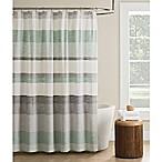 KAS Seneca Stripe Shower Curtain in Light Green