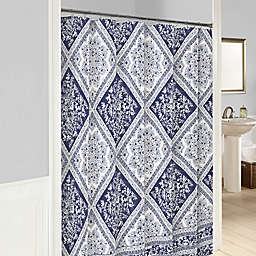 Marble Hill Brielle Shower Curtain in Blue