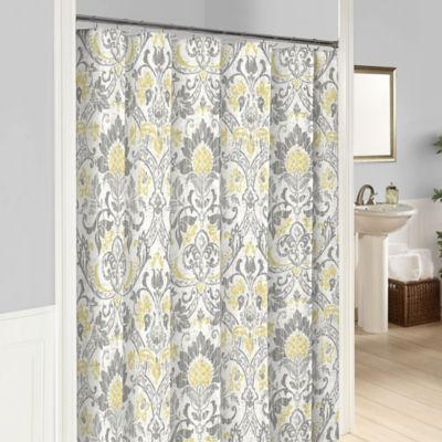 Marble Hill Rayna Shower Curtain In, Shower Curtains Gray And Yellow