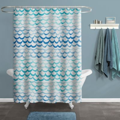 The Sea Shower Curtain In Blue