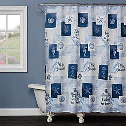SKL Home Seaside Sentiments Shower Curtain in Blue