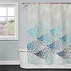 Saturday Knight School of Fish Shower Curtain in Blue