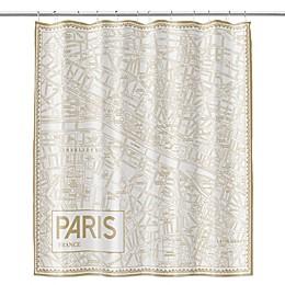 Paris Map Shower Curtain