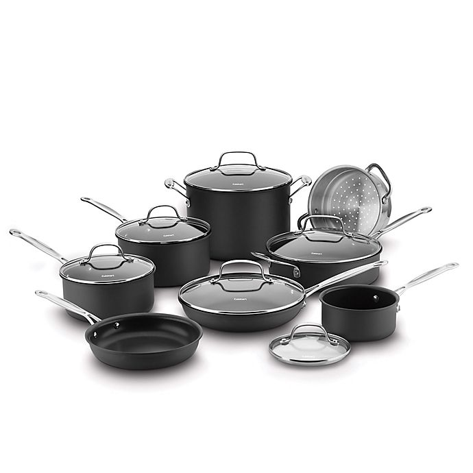 Alternate image 1 for Cuisinart® Chef's Classic™ Nonstick Hard Anodized 14-Piece Cookware Set