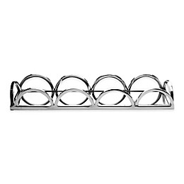 Classic Touch Relic 15-Inch Mirrored Rectangular Tray in Silver