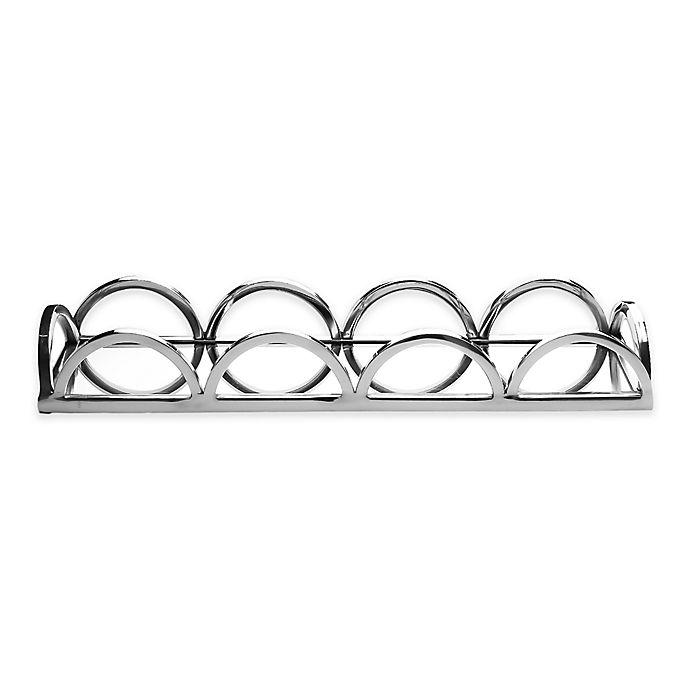 Alternate image 1 for Classic Touch Relic 15-Inch Mirrored Rectangular Tray in Silver