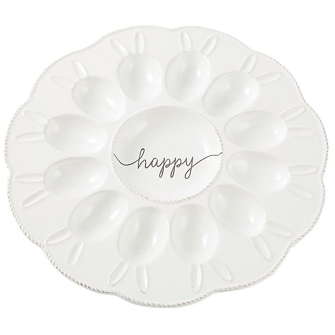 Alternate image 1 for Mud Pie® Bunny Deviled Egg Platter