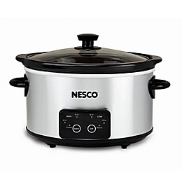 Nesco® Everyday 4 qt. Oval Digital Slow Cooker in Stainless Steel