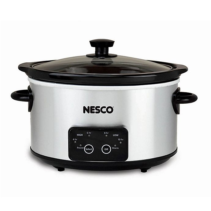 Alternate image 1 for Nesco® Everyday 4 qt. Oval Digital Slow Cooker in Stainless Steel