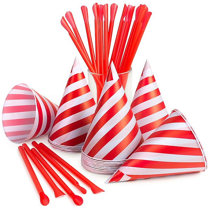 Alternate image 1 for Nostalgia™ 40-Count Snow Cone Straws and Cups