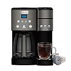 Cuisinart® Coffee Center™ Coffee Maker/Single Serve Brewer in Black Stainless Steel