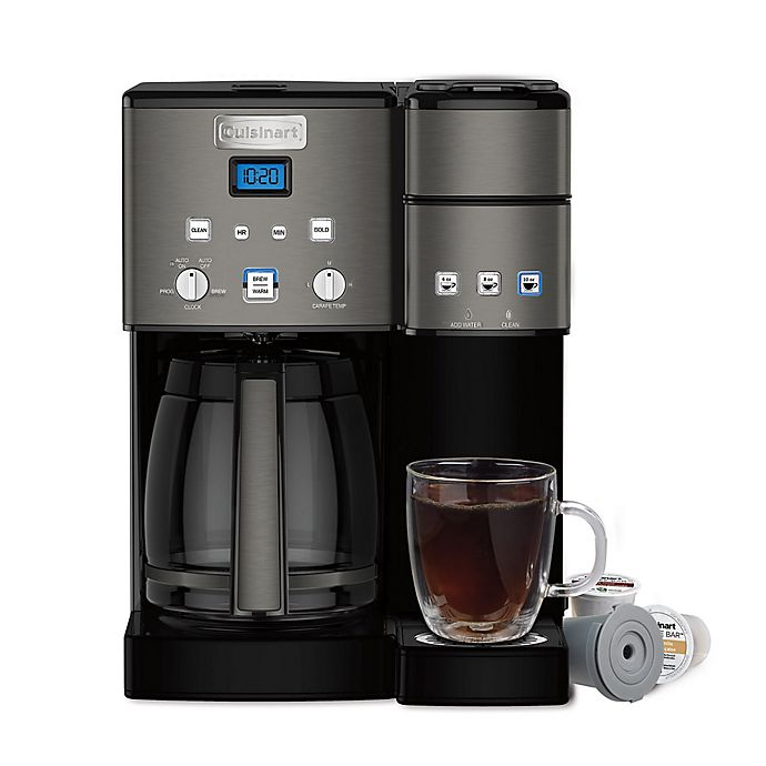 Alternate image 1 for Cuisinart® Coffee Center™ Coffee Maker/Single Serve Brewer in Black Stainless Steel