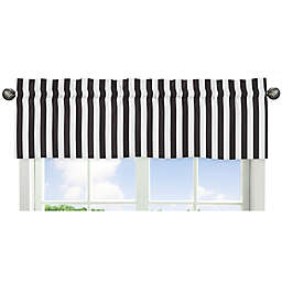 Sweet Jojo Designs Paris Striped Window Valance in Black/White